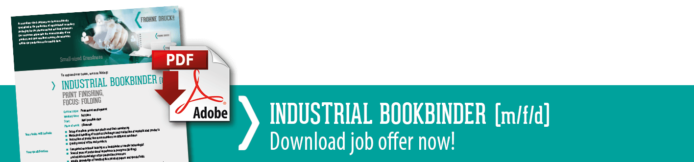 Download link to the job advertisement industrial bookbinder