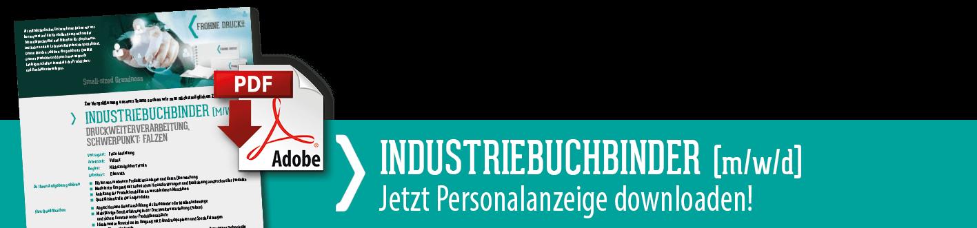 Downloadlink zur Stellenanzeige Industriebuchbinder
