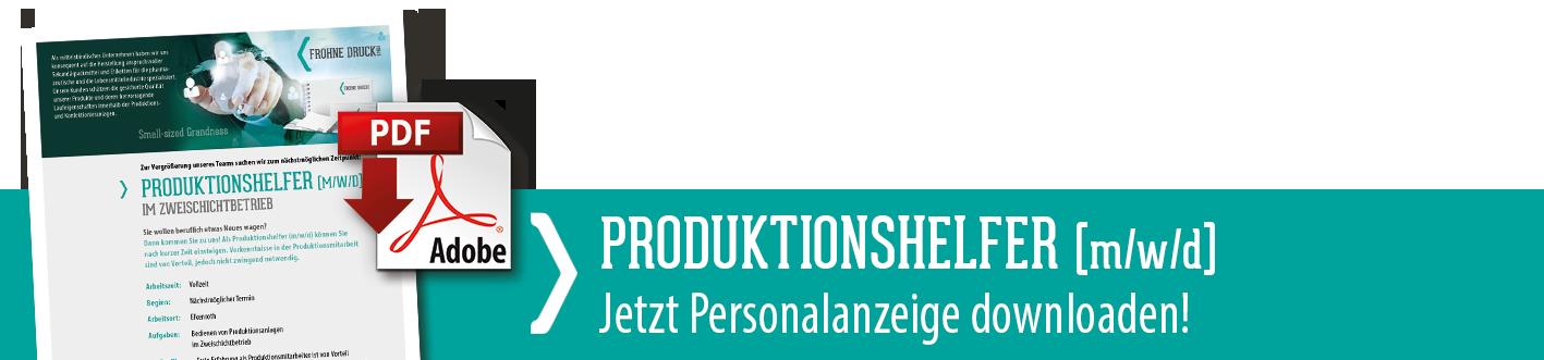 Downloadlink zur Stellenanzeige Mitarbeiter für die Produktion